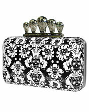 TOO FAST SUICIDAL SKULL WALLPAPER CLUTCH BAG  (B10C)