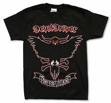 DEVILDRIVER PRAY FOR VILLAINS SUMMER TOUR 2009 BLACK T-SHIRT NEW OFFICIAL ADULT