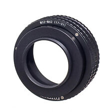 M52 to M42 17-31mm Adjustable Focusing Helicoid Adapter Macro Extension Tube