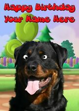 Rottweiler Googly Eyes Birthday Card PIDE5  A5 Personalised Greeting Card