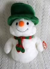2006 Ty Pluffies Mr. Snow Plush Snowman w Hat & Scarf w Tags Baby Lovey