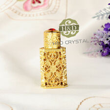 Antique Gold Empty Crystal Cut Glass Metal Perfume Bottles Collectibles Gift 2ml