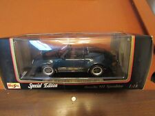 1989 Porsche 911 Speedster Maisto Diecast 1:18 Dark Green NEW