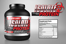 100% Whey Protein Isolate 5lb - Unflavored From Goliathlabs