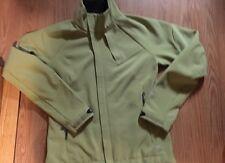 Womens Mountain Hardwear Hard Wear Softshell Fleece Coat Jacket sz Med Green