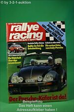 Rallye Racing 10/80 Albar VW Käfer Cabrio Ford XR 3 + Poster