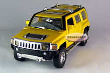 Free shipping 1:32 Hummer H3 Alloy Diecast Model Car Toy Sound&Light Yellow 337