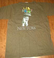 M&Ms WORLD small T shirt milk chocolate Statue of Liberty mascot New York tee