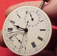Vintage Swiss Chronograph Register High Grade Open F Movement 43MM Pocket Watch