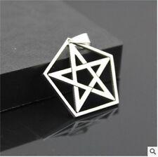 NEW 1PCS pentagram Men's Silver 316L Stainless Steel Titanium Pendant Necklace