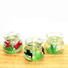 1 Pc Miniature Plastic Fish Tank Transparent Aquarium Dollhouse Ornaments 1:12