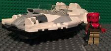 Custom Lego Star Wars Red Twi'Lek Investigtor with White and Gray Speeder