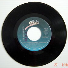 ONE 1978'S 45 R.P.M. RECORD, THE JACKSONS, SHAKE YOUR BODY + THAT'S WHAT YOU GET