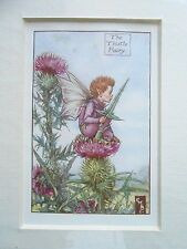 CICELY MARY BARKER - The Thistle Fairy, Flower Fairies - Vintage Mounted Print
