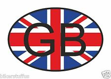 GB GREAT BRITAIN COUNTRY CODE OVAL WITH FLAG BUMPER STICKER