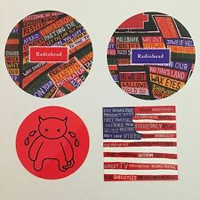 Radiohead Vintage Promo Vinyl Sticker Lot - 4 Stickers From 2003 And Amnesiac