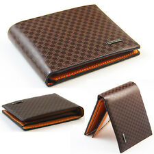 Hot sale Stylish Mens Cool PU Leather Wallet Pocket Card Clutch Bifold Purse