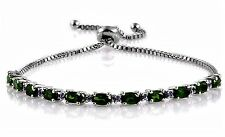 Russian Chrome Diopside and Tanzanite Bracelet 3.580 carats adjustable