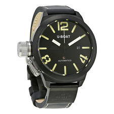 U-Boat Classico Automatic Black Dial Mens Leather Watch 1822