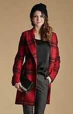 NewWT Karen Millen red & black check wool coat jacket UK 12 £295