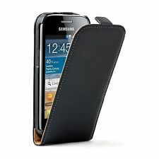 Ultra Slim Black Leather Case cover for Samsung Galaxy Ace 3 GT-S7270 S7275 LTE