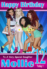 LITTLE MIX !!  NEW DESIGN 1 Personalised Birthday Card!! ANY NAME & AGE GREAT!