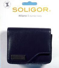Soligor Milano I Fototasche marine navy camera case bag poche Tasche - (12415)