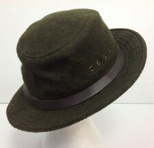 Genuine 100% Felted Wool CC FILSON Green Brimmed Hat Excellent USA Men's Medium