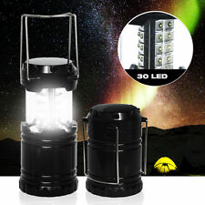 Camping Lantern Portable Collapsible 30 LED Hiking Night Light Lamp Flashlights