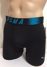 "Puma Sport 6"" Inseam  Boxer Brief Medium (32-34) Black w/ Blue Trim  (9834)"