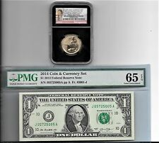 2014 American $1 Coin and Currency NGC SP 69 EARLY RELEASES  PMG & 65 black core