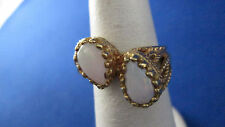 10K Yellow Gold Ring W/ 2 Opals. Size 5.75