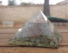 EXTRA LARGE (70-75mm) LABRADORITE ORGONE GEMSTONE X-LARGE PYRAMID ORGONITE