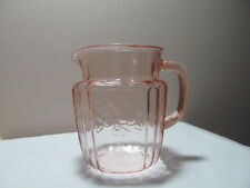 Pink Depression Glass Juice Pitcher 37 Ounce Mayfair Open Rose