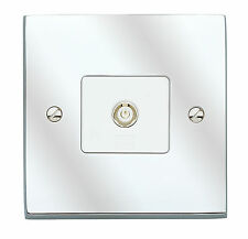 MK Alloy TV  FM Aerial Single non isolated Polished Chrome Wall Socket K5320 POC