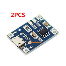 2PCS TP4056 5V 1A Lithium Battery Charging Board Charger Module Micro USB