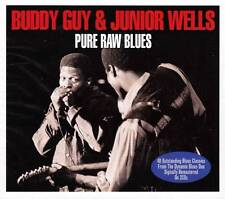 BUDDY GUY & JUNIOR WELLS - PURE RAW BLUES - 40 BLUES CLASSICS  (NEW SEALED 2CD)