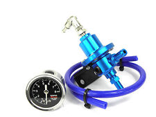 Blue Adjustable Fuel Pressure Regulator kit Mazda RX7 Turbo RX8 MX5 3 6