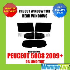 PEUGEOT 5008 2009+ 5% LIMO REAR PRE CUT WINDOW TINT