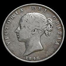 1846 Queen Victoria Young Head Silver Half Crown – GF