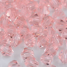 100pcs pink exquisite Glass Crystal 4mm #5301 Bicone Beads loose beads !@