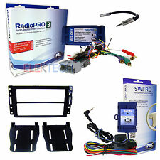 Radio Replacement w/Steering Wheel Control Interface & Dash Kit for GM No-Onstar