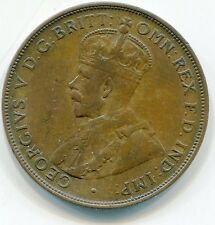 1924 PENNY 1919 1/2 COMMON WEALTH AUSTRALIA AUSTRALIAN BRONZE COIN KING GEORGE 5