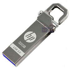 HP 32GB x750w USB 3.0 Flash Pen Drive Memory Stick Key Thumb Hook Lock Metal 32G