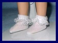 """Lace Ruffle Trim Doll Ankle SOCKS Anklets fit 8"""" TINY BETSY McCALL PukiPuki"""