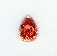 0.25ct Natural Loose Fancy Deep Orangy Pink Red Color Diamond GIA Pear Shape SI1