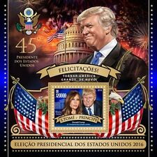 SAO TOME LIMITED EDITION DONALD TRUMP VICTORY  SOUVENIR SHEET