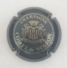 capsule champagne COMTE DE NOIRON barre 2 traits n°6 noir et or