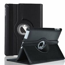 black leather 360 rotating skin case cover stand for apple ipad air 5 5th gen