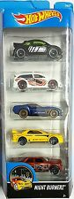 Hot Wheels - 5 Cars Pack Night Burnerz (New)